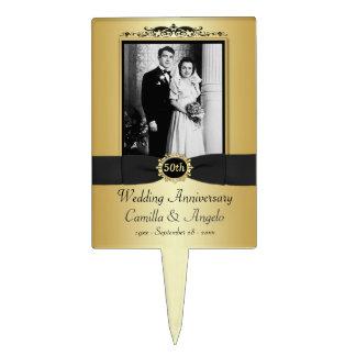 50 o Selección de la torta del aniversario de boda Decoración De Tarta