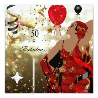50.o Señora atractiva Fabulous de la fiesta de
