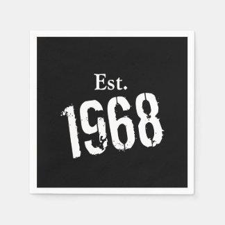 50.o Servilleta de papel de encargo del año 1968