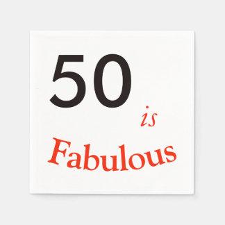 50.o Servilleta del cumpleaños Servilleta De Papel