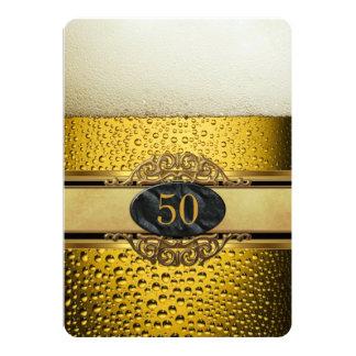 50.o Sirve a la fiesta de cumpleaños adornada del Invitación 12,7 X 17,8 Cm