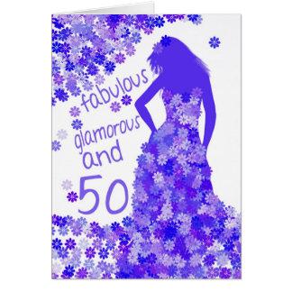 50.o Tarjeta de cumpleaños - fabulosa, atractiva y