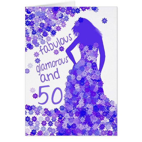 50 o tarjeta de cumplea os fabulosa atractiva y - Tarjetas 50 cumpleanos ...