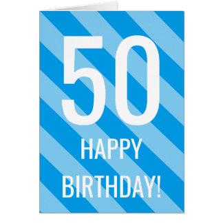 50.o Tarjeta de cumpleaños para el hombre o la