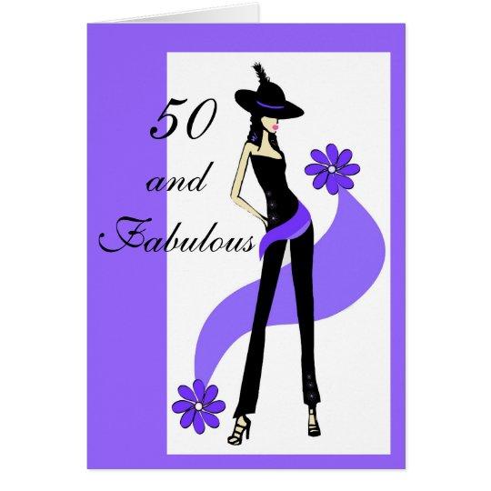 50 o tarjeta de cumplea os para las mujeres zazzle - Tarjetas 50 cumpleanos ...