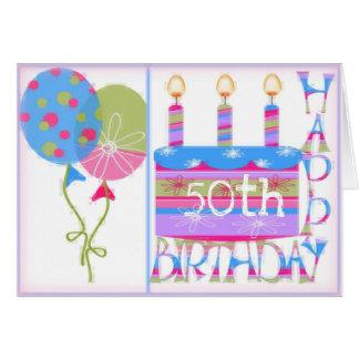 50.o Tarjeta de cumpleaños para las mujeres