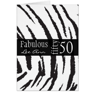 50.o Tarjeta de cumpleaños para las mujeres del