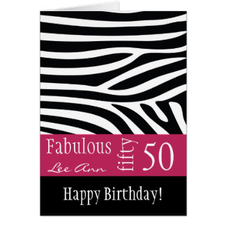 50.o Tarjeta de cumpleaños para las mujeres del na