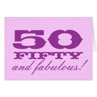 50.o ¡Tarjeta de cumpleaños para las mujeres el |