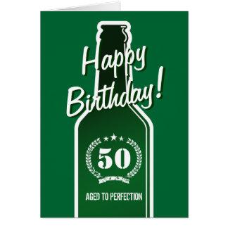 50 o Tarjeta de cumpleaños para los hombres el e
