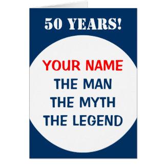 50.o Tarjeta de cumpleaños para los hombres el | l