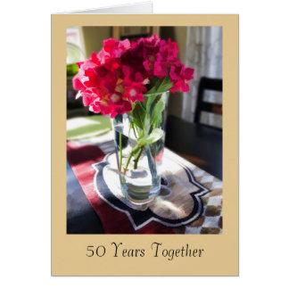 50.o Tarjeta de felicitación del aniversario con