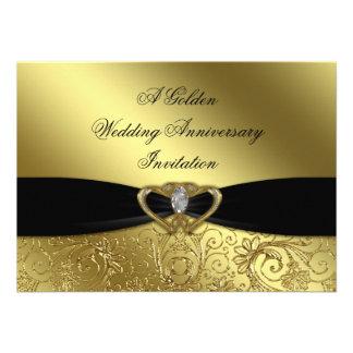 50 o Tarjeta de la invitación del aniversario de