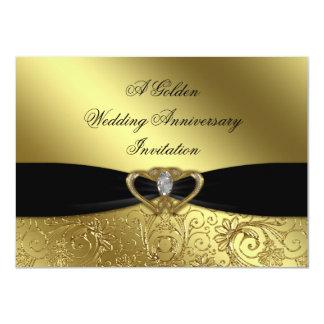 50.o Tarjeta de la invitación del aniversario de Invitación 11,4 X 15,8 Cm