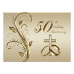50.o Tarjeta de la invitación del aniversario de b