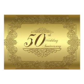 50 o Tarjeta de la invitación del aniversario de b