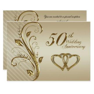 50.o Tarjeta de RSVP del aniversario de boda