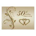 50.o Tarjeta de RSVP del aniversario de boda Invitacion Personal