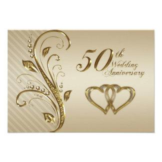 50 o Tarjeta de RSVP del aniversario de boda
