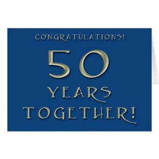 50.o Tarjeta del aniversario de boda