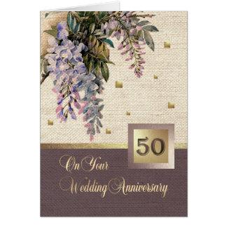50.o Tarjetas de felicitación del aniversario de