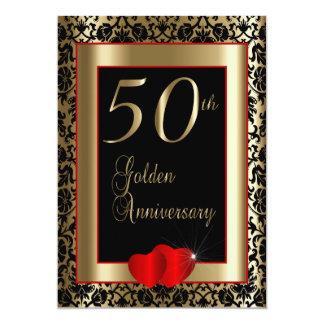 50.o Texto del aniversario de boda de oro el | DIY Invitación 12,7 X 17,8 Cm