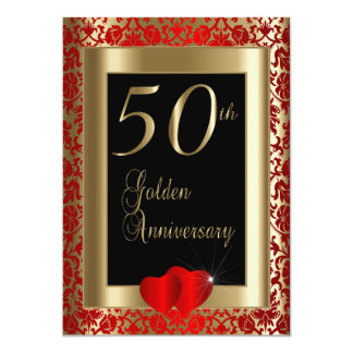 50.o Texto del aniversario de boda de oro el   DIY Invitación 12,7 X 17,8 Cm