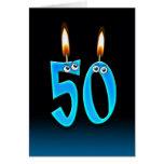 50.o Velas del cumpleaños