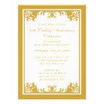 50.o Voluta de oro del Flourish del aniversario de Invitación Personalizada