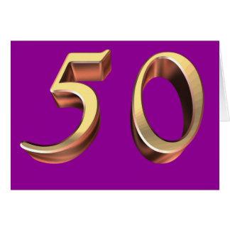 50.os años 50 felices cincuenta del cumpleaños 50  felicitaciones