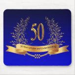 50.os regalos elegantes del aniversario de boda alfombrillas de ratones
