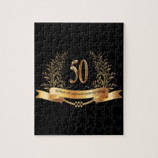 50.os regalos felices del aniversario de boda puzzles con fotos