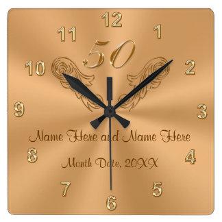 50.os regalos personalizados magníficos del reloj cuadrado