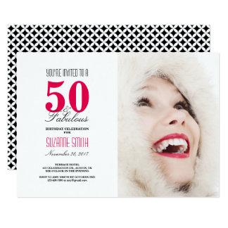 50 y 50.a invitación fabulosa de la fiesta de
