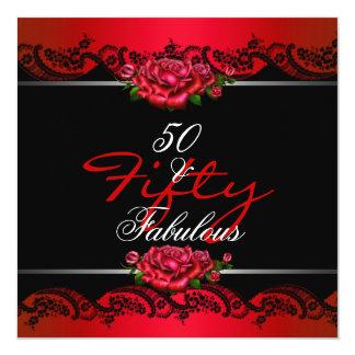 50 y 50.os rosas rojos fabulosos de la fiesta de