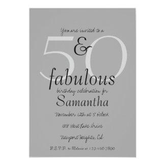 50 y fabuloso invitación 12,7 x 17,8 cm