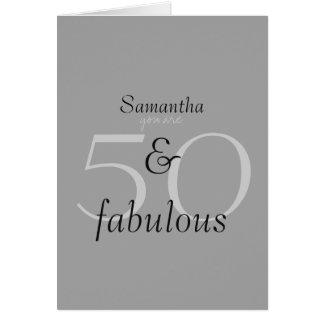 50 y fabuloso tarjeta