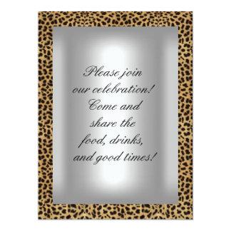 50 y fiesta fabuloso de la plata del leopardo