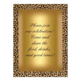 50 y fiesta fabuloso del oro del leopardo