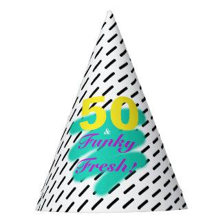 50 y gorra fresco enrrollado del fiesta del  