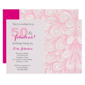 50 y invitación fabulosa de la fiesta de