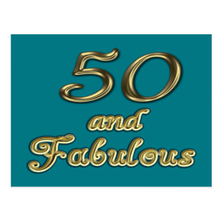 50 y postal fabulosa