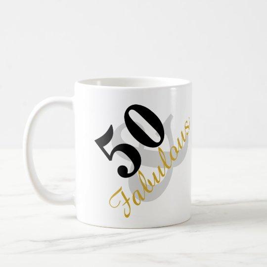 50 y taza fabulosa del cumpleaños