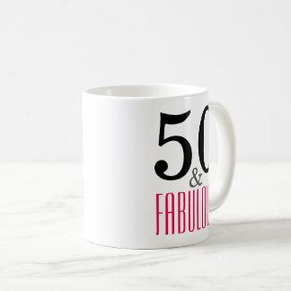 50 y taza fabulosa del regalo de cumpleaños