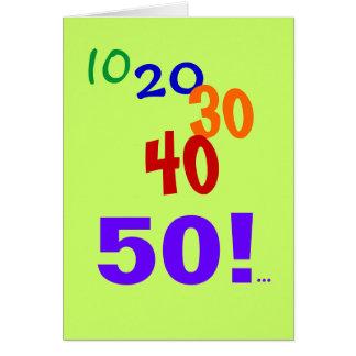 50 y todavía el considerar - 50.a tarjeta de cumpl
