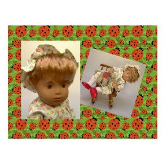 514s Sasha bebé Rosie Flower Dress tarjeta postal