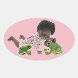 519 Sasha Cara Black bebé pegatina
