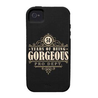 51.o Cumpleaños (51 años de ser magníficos) Vibe iPhone 4 Carcasas
