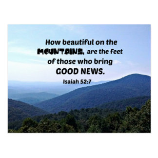 52:7 de Isaías cómo es hermoso en las montañas sea Postal