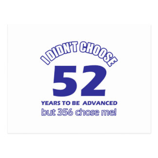 52 años de adelanto postal